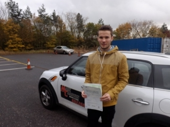 Well done John on passing your driving test again first time