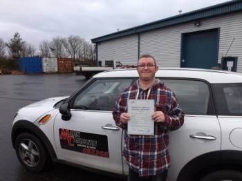 Having driven before Mark brought me beyond standard in a calm and patient manner and very quickly removing any seed of doubt i had about failure as a result i passed my test first time on cloud nine right now cant thank you enough Mark